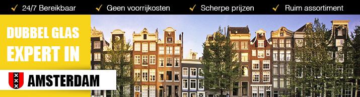Dubbel glas expert in Amsterdam